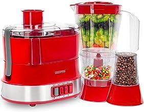 Geepas 4-in-1 Multi-Function Food Processor - Electric Blender Juicer, 2-Speed with Pulse Function & Safety Interlock   80...