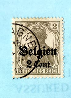belgium german occupation stamps