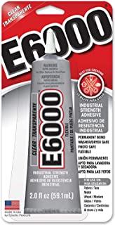 Eclectic Products 237032 6 Pack E-6000 Craft Adhesive Tube, Clear, 2-Ounce