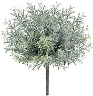 4 Pack Artificial Flocked Rosemary Bushes Faux Rosemary Plants Rosemary Greenery Shrubs Spray for Table Centerpiece Weddin...