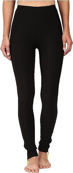 Plush - Fleece-Lined Zippered Running Leggings with Pocket
