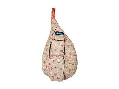 KAVU Mini Rope Bag (Chillin Flamingo) Bags