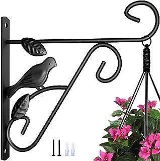 Amagabeli Hanging Plants Bracket 10in Wall Planter Hooks Flower Pot Bird Feeder Wind Chime Lanterns Hanger Outdoor Indoor ...