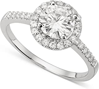 Aigue-marine Anneau Avec Diamants 14K or Rose 0.25CTS