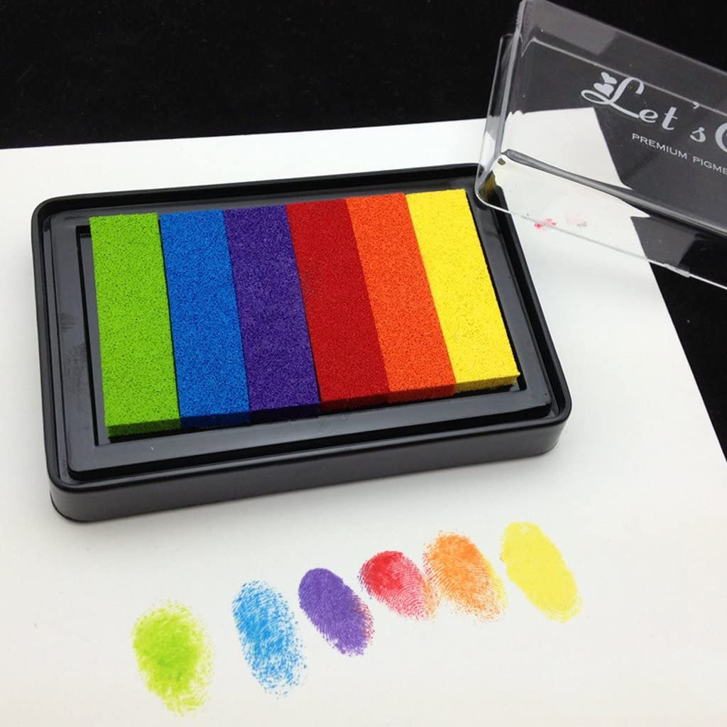 CHENGBEI Rainbow Multicolor Limited time for free shipping 25% OFF Ink Pad Based Stamp Oil Scrapboo