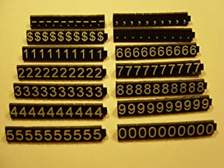 Price Cube Display for Retail Shop W/340 Cubes White on Black