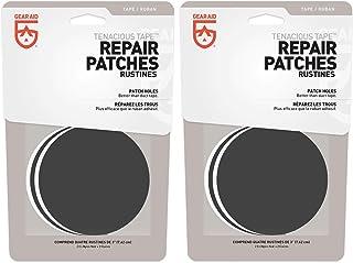 Gear Aid Tenacious Tape Repair Patches Clear & Black 3 Round Flexible (2-Pack)