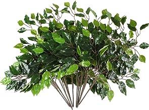 HUAESIN 4pcs Falsa Arbusto Artificial Exterior e Interior Plantas Artificiales Decorativas Arbustos de Plastico Flores Verde para Jardinera Jarrones Patio Terraza Hogar Fiesta Jardin Terraza