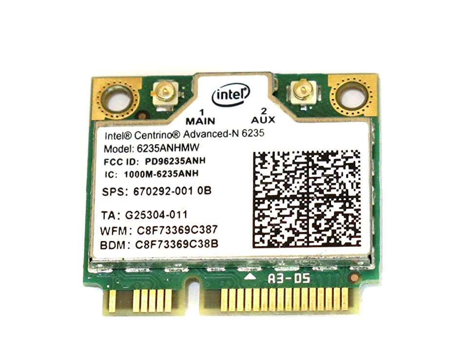 HP 専用 Intel Centrino Advanced-N 6235 802.11a/b/g/n 最大リング300Mbps WIFI +BlueTooth 4.0 無線LANカード for EENVY4 ENVY6 2710p 2570p  8470p 8570p 6740b 6570b 4540s 4441s