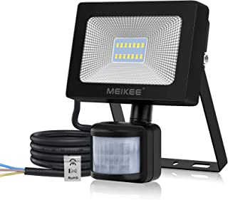 MEIKEE 15W Foco LED con Sensor de Movimiento, Proyector Led Exterior con Detector 1500LM, Blanco Frío 6500K, Impermeable I...
