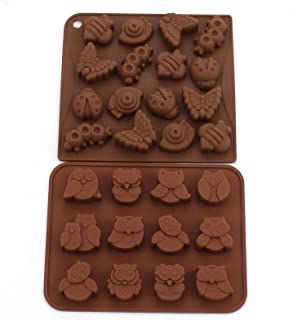 WARMBUY Silicone Animal Insect Chocolate Candy Making Mold Ice Cube Tray Set of 2