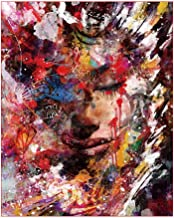 JHCT Canvas Art Painting by Numbers DIY Painted Dim Face Figure Canvas Wedding Decoration Art Picture-40X50Cmx1 Pcs No Frame