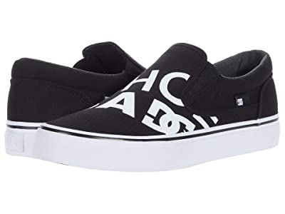 DC Trase Slip-On SP (Black/Black/White) Skate Shoes