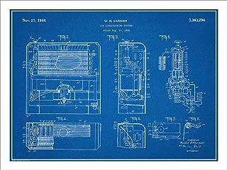 Studio 21 Graphix 1939 Carrier Air Conditioning System Patent Print Art Poster UNFRAMED Blueprint 18