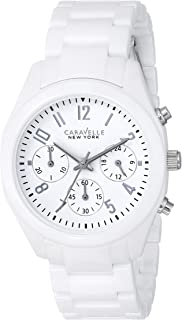 Caravelle New York by Bulova Women's 45L145 Analog Display Japanese Quartz White Watch