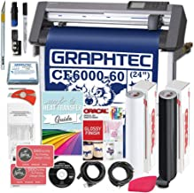 Graphtec PLUS CE6000-60 24 Inch Professional Vinyl Cutter with BONUS Design Software, Oracal 651, and 2 Year Warranty