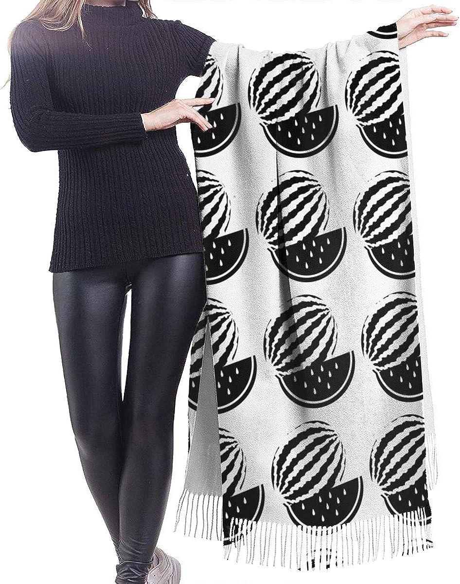 Watermelon Silhouette Winter Scarf Cashmere Scarves Stylish Shawl Wraps Blanket