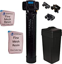 AFWFilters Fleck IRON Pro 2 AFW Filters Combination Water Softener Iron Filter 5600SXT Digital Metered Valve for Whole House (48,000 Grains, Black)