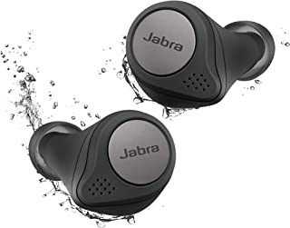 $119 » Jabra Elite Active 75t Titanium Black Voice Assistant Enabled True Wireless Sports Earbuds with Charging Case (Renewed)