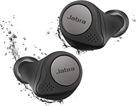 Jabra Elite Active 75t Titanium Black Voice Assistant Enabled True Wireless Sports Earbuds with Charging Case (Renewed)