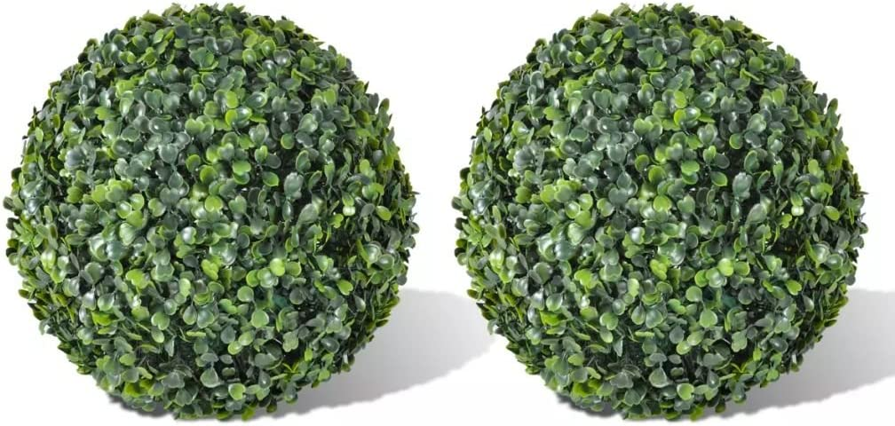vidaXL 2 pcs Boxwood Ball Home Artificial Leaf Limited Industry No. 1 time sale Deco Topiary