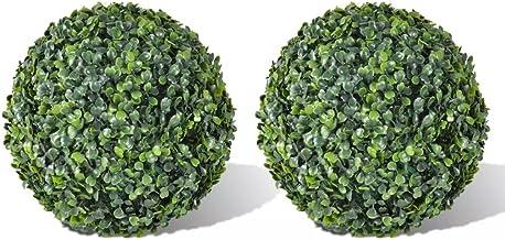 vidaXL 2X Plante Artificielle Topiaire Décoration de Jardin Boule de Buis