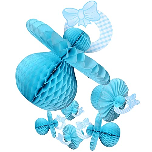 Juvale Baby Shower Decorations - 6 Pieces Boy Theme Pacifier Baby Shower Table Centerpieces Hanging Decor