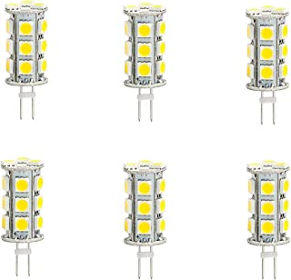 6 Pack G4 GX4 Bi Pin Tower LED Capsule Light Cluster Bulb AC DC 12V 24V 2-Pin Fitting Lamps Replacement for 10W JC Halogen Spot Lamp Bulbs of Vehicle & Any Low Volt Lighting System, Cool White, 3.5W