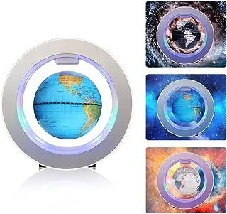 Magnetic Levitation Floating Globe 4 inches World Map with LED Lights Round Blue