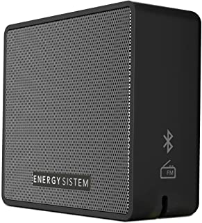 Energy Sistem Box 1+ Altavoz inalámbrico portatil con Bluetooth (5 W, microSD MP3, FM Radio, Audio-In) Slate