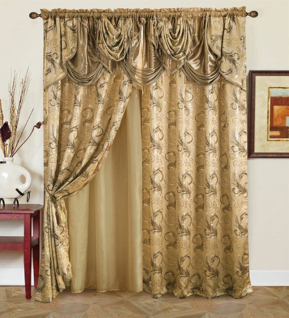 Golden Collection Curtain Attached Valance