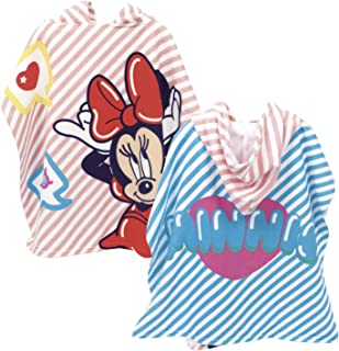 ARDITEX WD13071 Poncho de Microfibra con Capucha de 55x55cm de Disney-Minnie
