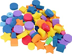 Bonka Bird Toys 1194 60 pc Colored Fun Shapes Foam Beads Assorted Colors & Shapes Parts Craft Charms