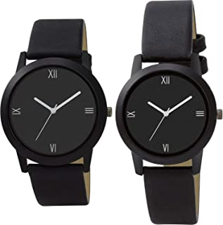 Nikola Valentine's Day Couple Analogue Black Color Dial Girls Watch - B163-G440 (Pack of 2)