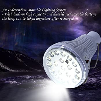Solar Light Bulb, LightMe Dimmable Multi-Functional Brightness 20 LED Solar Powered Lamp Solar Lights with Remote Con...