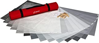Digital Juice Diffusion Gel Kit w/Free Roll-Up Bag & C-47 Clips for Light Modification for Photography w/ 12 Gel Filters