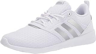 adidas Women's QT Racer 2.0 Running Shoe, White/Silver Metallic/Grey, 8