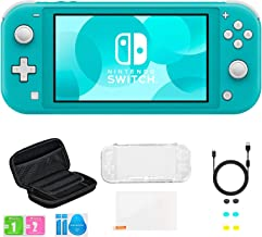 Newest Nintendo Switch Lite Game Console, Turquoise, Bundled with 8-1 Accessories Include Portable Carry Bag & Cover Case ...