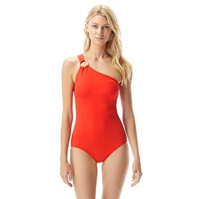 MICHAEL Michael Kors Iconic Solids One Shoulder One-Piece