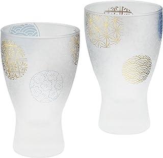 アデリア 酒器 日本酒グラス ブルー 100ml プレミアムニッポンテイスト丸紋 酒グラス ペアギフト 日本製 S6210
