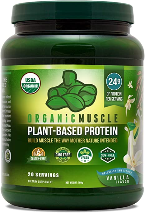 Organic Muscle Plant-Based Protein Powder