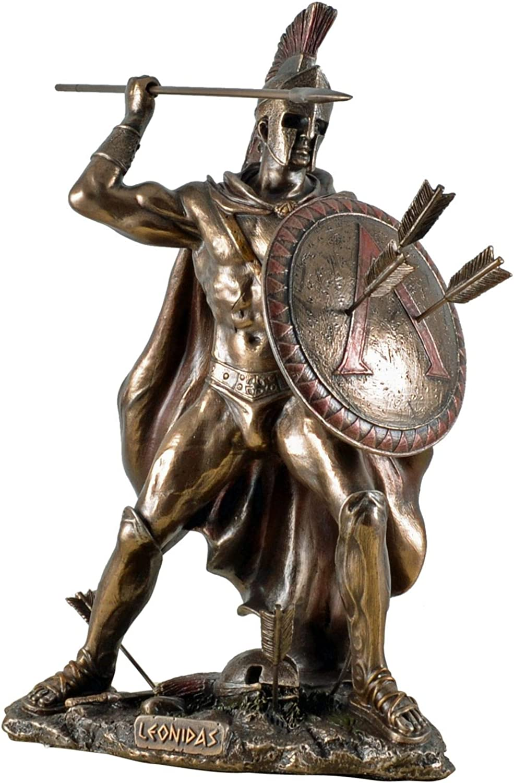 Veronese 708-6932 Figur kmpfender Leonidas Feldherr Skulptur Perser Spartiaten Xerxes