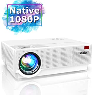 Projector, WiMiUS Newest P28 6800 Lumens LED Projector Native 1920x1080 Video Projector Support 4K Dolby 300'' Screen 4D ±...