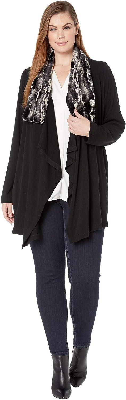 Karen Kane Women's Faux Fur Collar Jacket