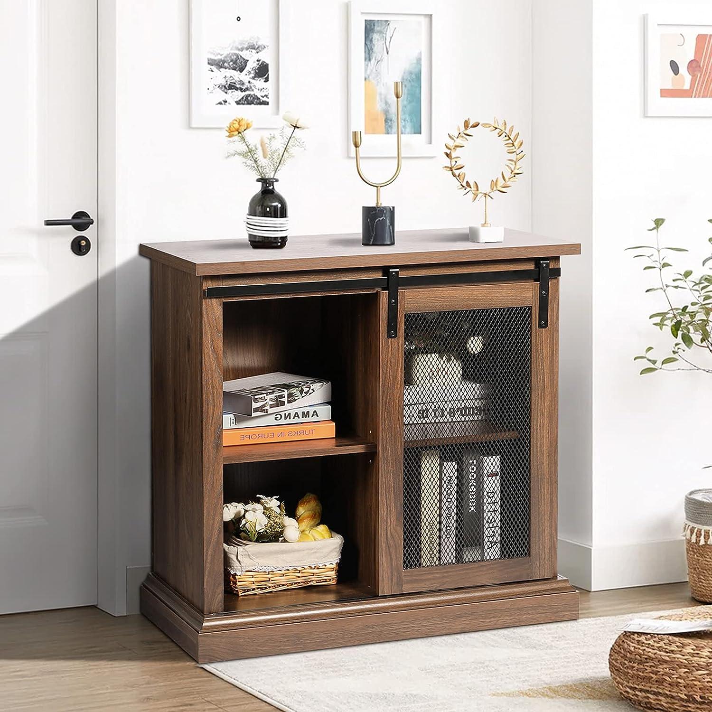 SUANSIX Modern Sideboard Ultra-Cheap Deals Rare Cabinet with Door St Sliding Huge Barn