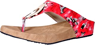 Indistar Girls and Super Comfortable Red Flat/Sandal