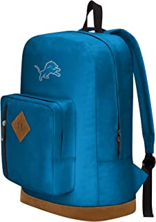 """Officially Licensed NFL Detroit Lions """"Playbook"""" Backpack, Blue, 18"""" x 5"""" x 13"""""""