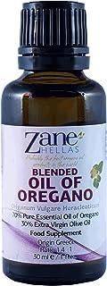 Zane Hellas 70% aceite de orégano. Aceite esencial griego puro de orégano .86% min carvacrol. 90 mg de carvacrol por porción. Probablemente el mejor aceite de orégano del mundo. 1 fl. oz.- 30 ml