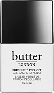 butter LONDON Purecure Peel-Off Gel Base And Topcoat, 0.4 Oz