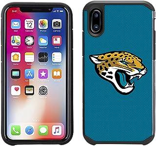 Prime Brands Group Cell Phone Case for Apple iPhone X - NFL Licensed Jacksonville Jaguars Textured Solid Color
